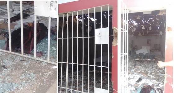 Explosão causou muita destruição na parte interna (fotos: Portal de Coronel Ezequiel)