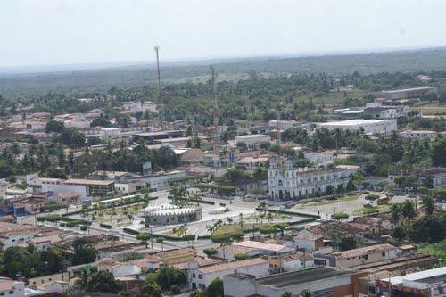 Vista área da xona urbana do município