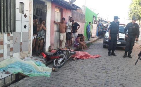 Cenário de violência no bairro Felipe Camarão em Natal