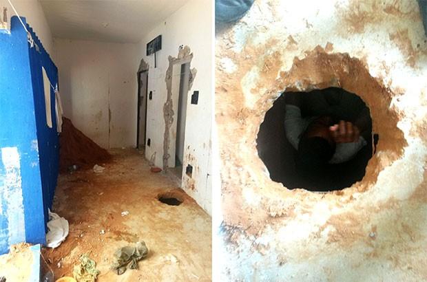 Túnel que desmoronou em Alcaçuz tinha sido descoberto no fim da semana (Foto: Grupo de Operações Especiais)