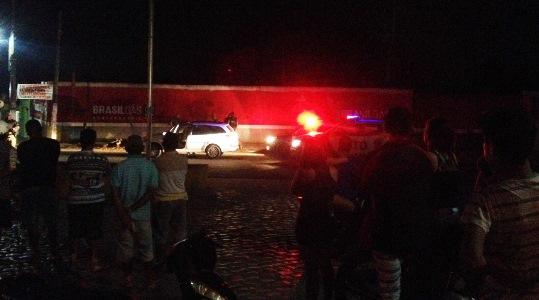Carro interceptado  pelo GTO no sinal da BR 406 em João Câmara