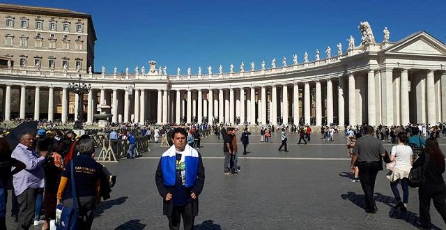 Resultado de imagem para Prefeito e caravana de João Câmara na missa de canonização dos Mártires no Vaticano